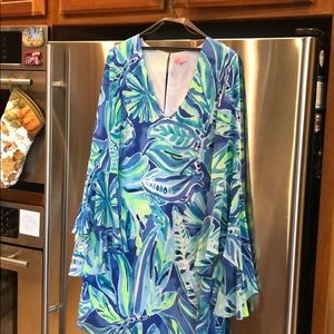 Lilly party dress. Flounce sleeves. Worn once.
